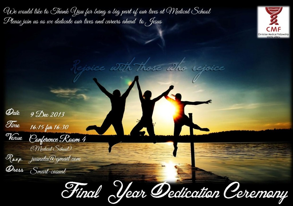 Dedication ceremony invite