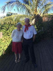 Victor Friedlund & wife red